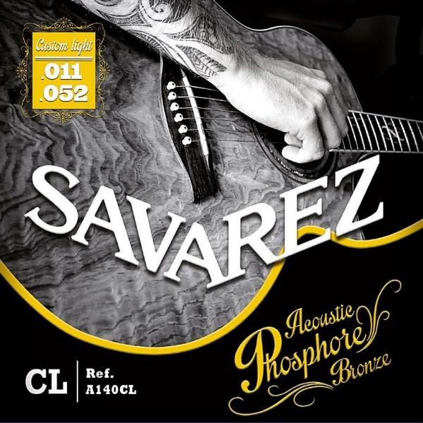 A140CL Ph. Bronze Acoustic guitar Custom light set Savarez 11-52