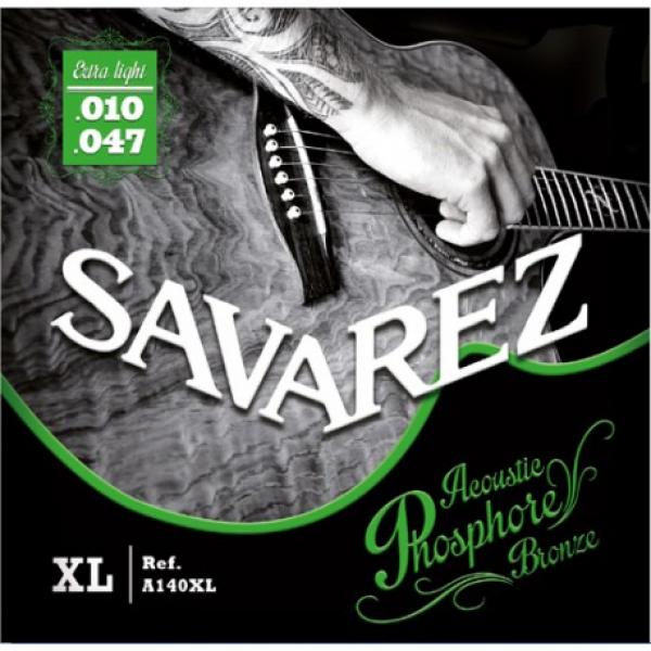 A140XL Ph. Bronze Acoustic guitar Extra light set Savarez  10-47