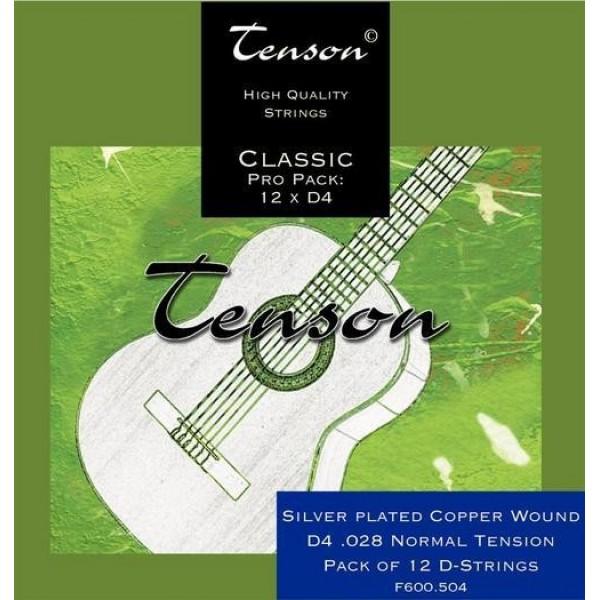 Tenson 028 Silver 4TH Nylon Classic Guitar
