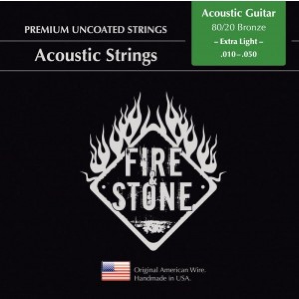Fire&Stone Acoustic strings 80/20 Bronze Extra light 10-50