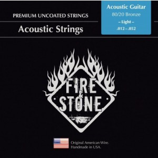 Fire&Stone Acoustic strings 80/20 Bronze light 12-52