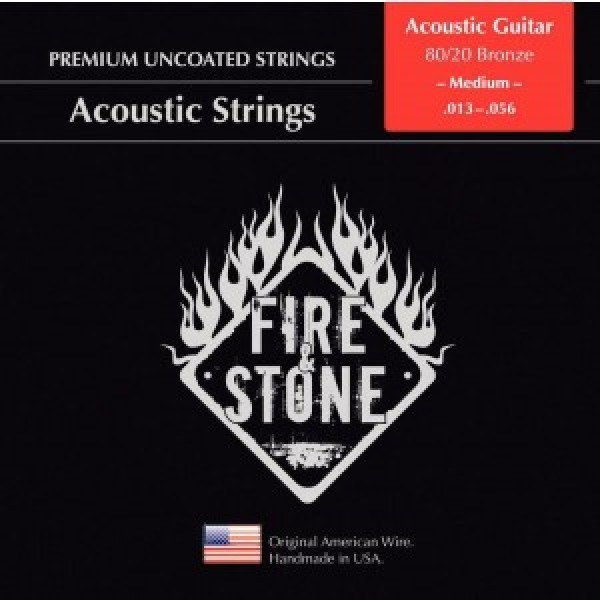 Fire&Stone Acoustic strings 80/20 Bronze Medium 13-56