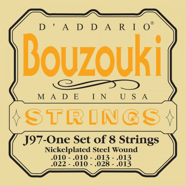 Daddario J97 Greek Bouzouki, 8-String, Nickel Wound