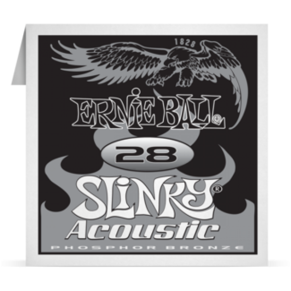 Ernie Ball 028 Slinky Acoustic Guitar Phosphor bronze