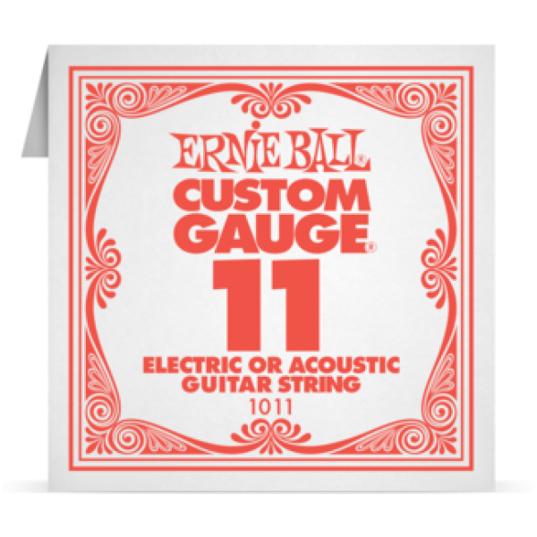 Ernie Ball 011 Plain Steel Electric and Acoustic Guitar 1011