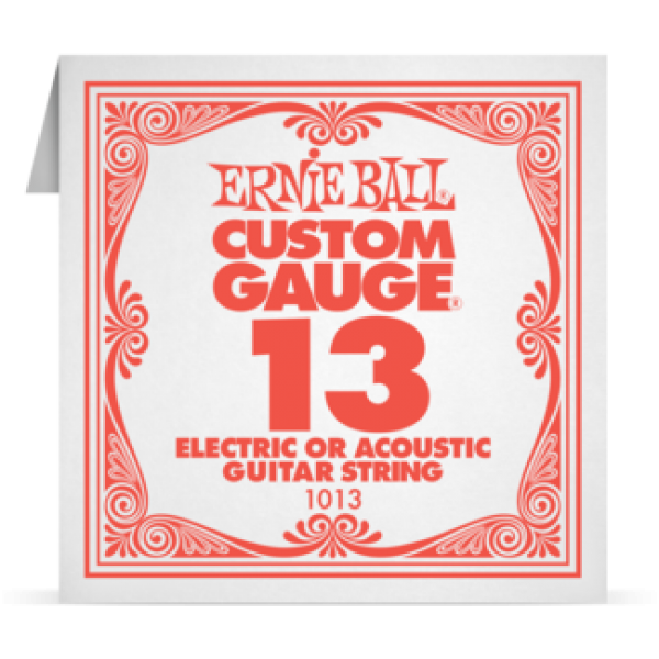 Ernie Ball 013 Plain Steel Electric and Acoustic Guitar 1013