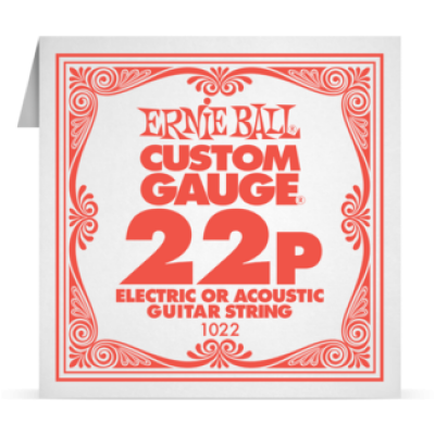 Ernie Ball 022P Plain Steel Electric and Acoustic Guitar 1022