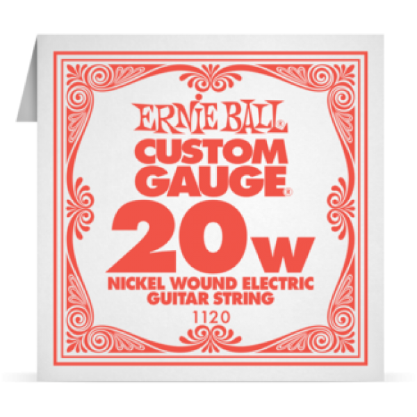 Ernie Ball 020W Nickel Wound Electric and Acoustic Guitar 1120
