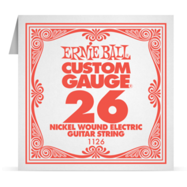 Ernie Ball 026 Nickel Wound Electric and Acoustic Guitar 1126
