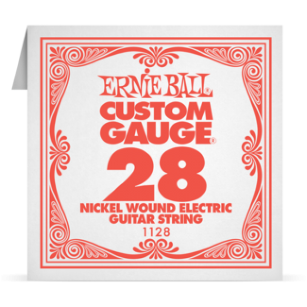 Ernie Ball 028 Nickel Wound Electric and Acoustic Guitar 1128