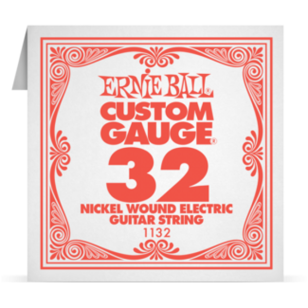 Ernie Ball 032 Nickel Wound Electric and Acoustic Guitar 1132