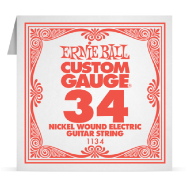 Ernie Ball 034 Nickel Wound Electric and Acoustic Guitar 1134