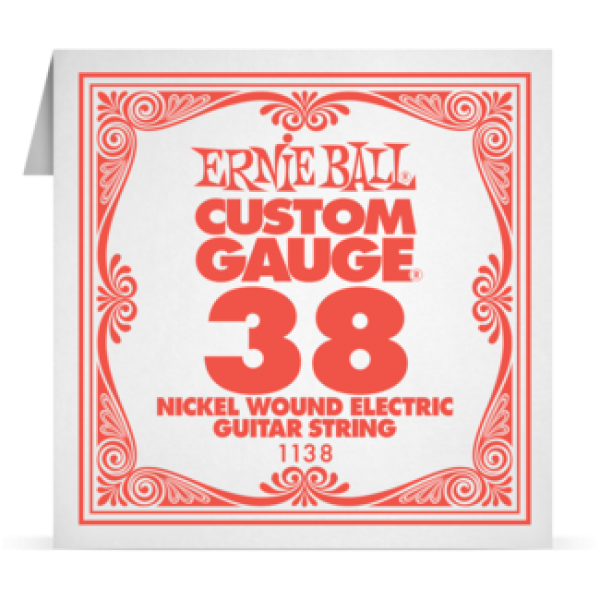 Ernie Ball 038 Nickel Wound Electric and Acoustic Guitar 1138