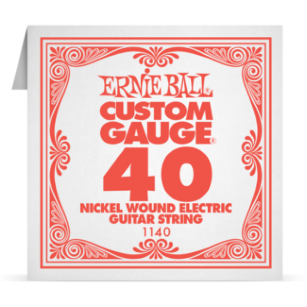 Ernie Ball 040 Nickel Wound Electric and Acoustic Guitar 1140