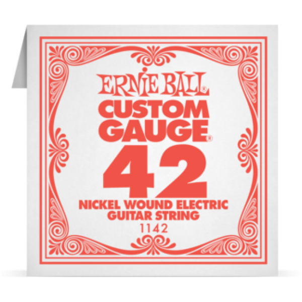 Ernie Ball 042 Nickel Wound Electric and Acoustic Guitar 1142