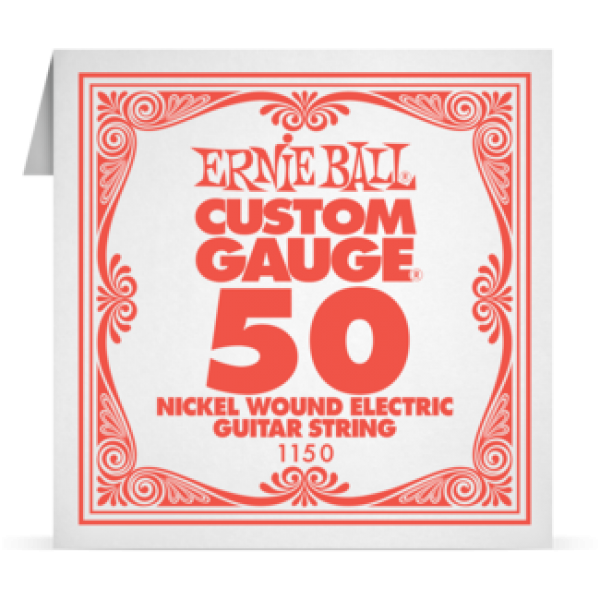 Ernie Ball 050 Nickel Wound Electric and Acoustic Guitar 1150