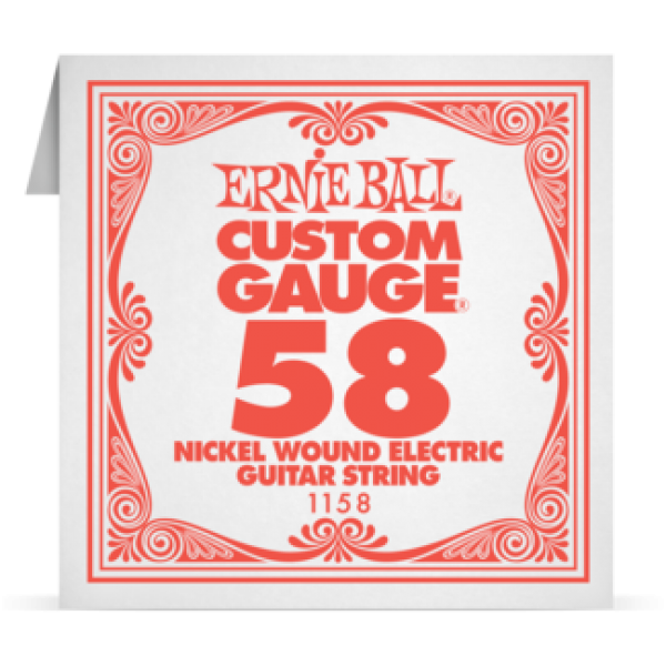 Ernie Ball 058 Nickel Wound Electric and Acoustic Guitar 1158