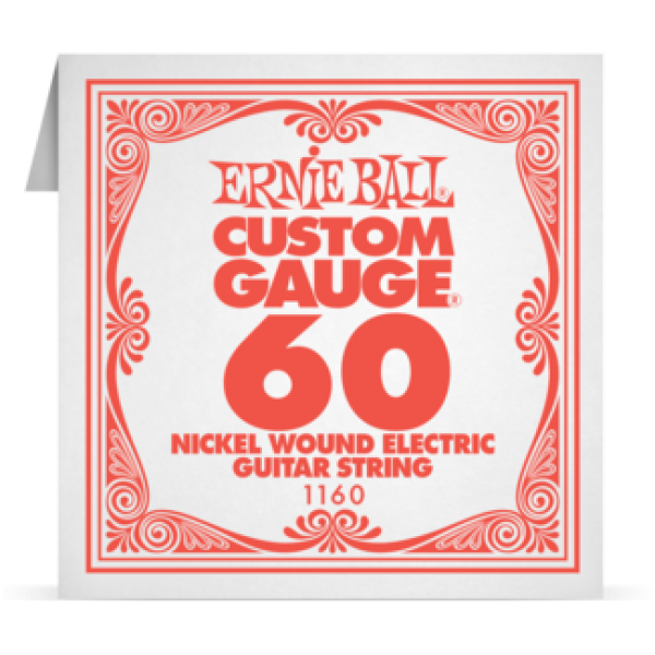 Ernie Ball 060 Nickel Wound Electric and Acoustic Guitar 1160