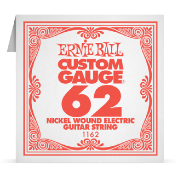 Ernie Ball 062 Nickel Wound Electric and Acoustic Guitar 1162