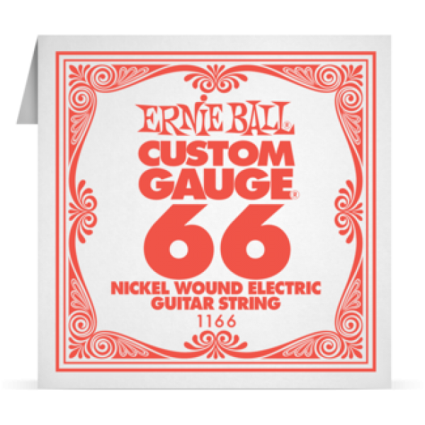 Ernie Ball 066 Nickel Wound Electric and Acoustic Guitar 1166