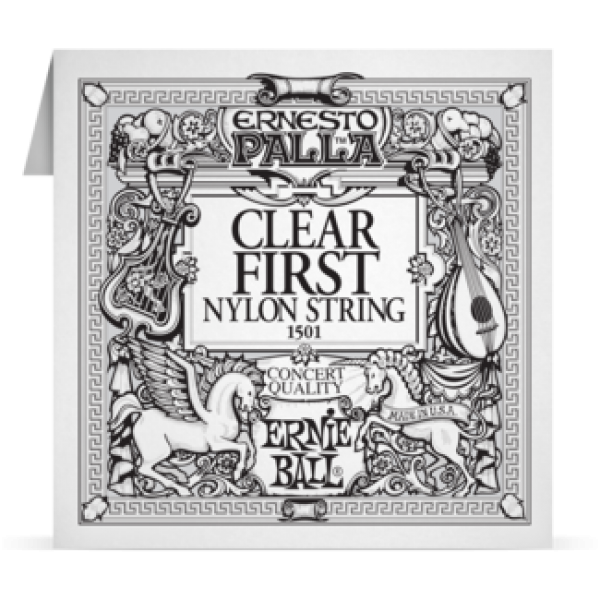 Ernie Ball 028 Clear 1ST Nylon Classic Guitar 1501