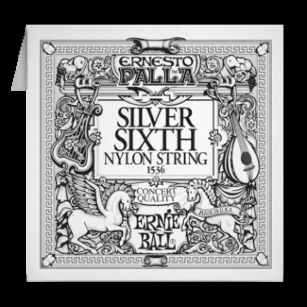 Ernie Ball 042 Silver 6TH Nylon Classic Guitar 1536