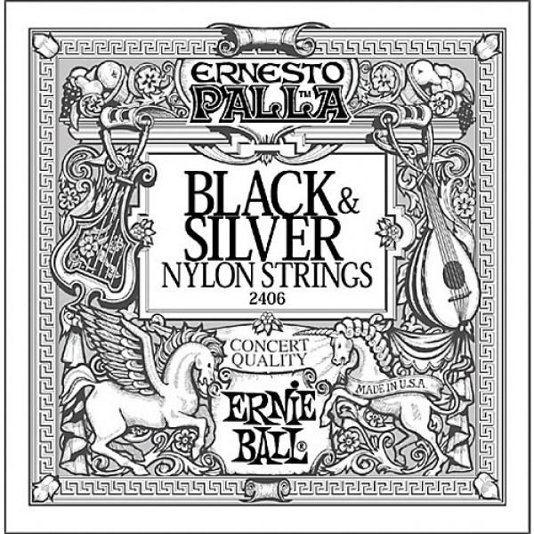 Ernie Ball Nylon Ernesto Palla Black & Silver 2406