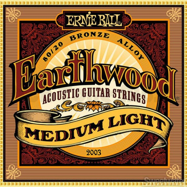 Ernie Ball Earthwood Medium Light Acous 80/20 Bronze 2003 12-54